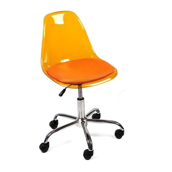 Pracovní židle na kolečkách Plato, oranžová