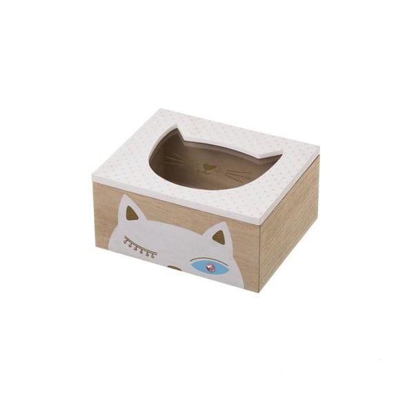 Úložná krabička Unimasa Kitty White,20x16cm