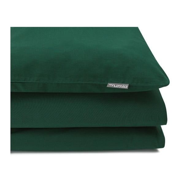 Lenjerie de pat Mumla, 140 x 200 cm, verde închis