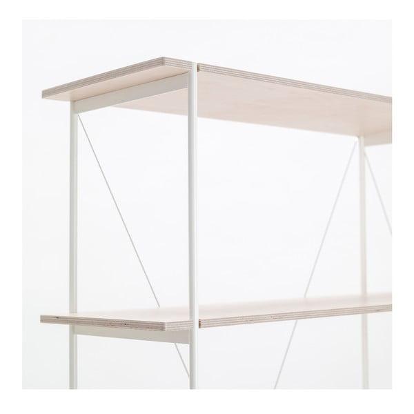 Knihovna One - bílá, 149x77 cm