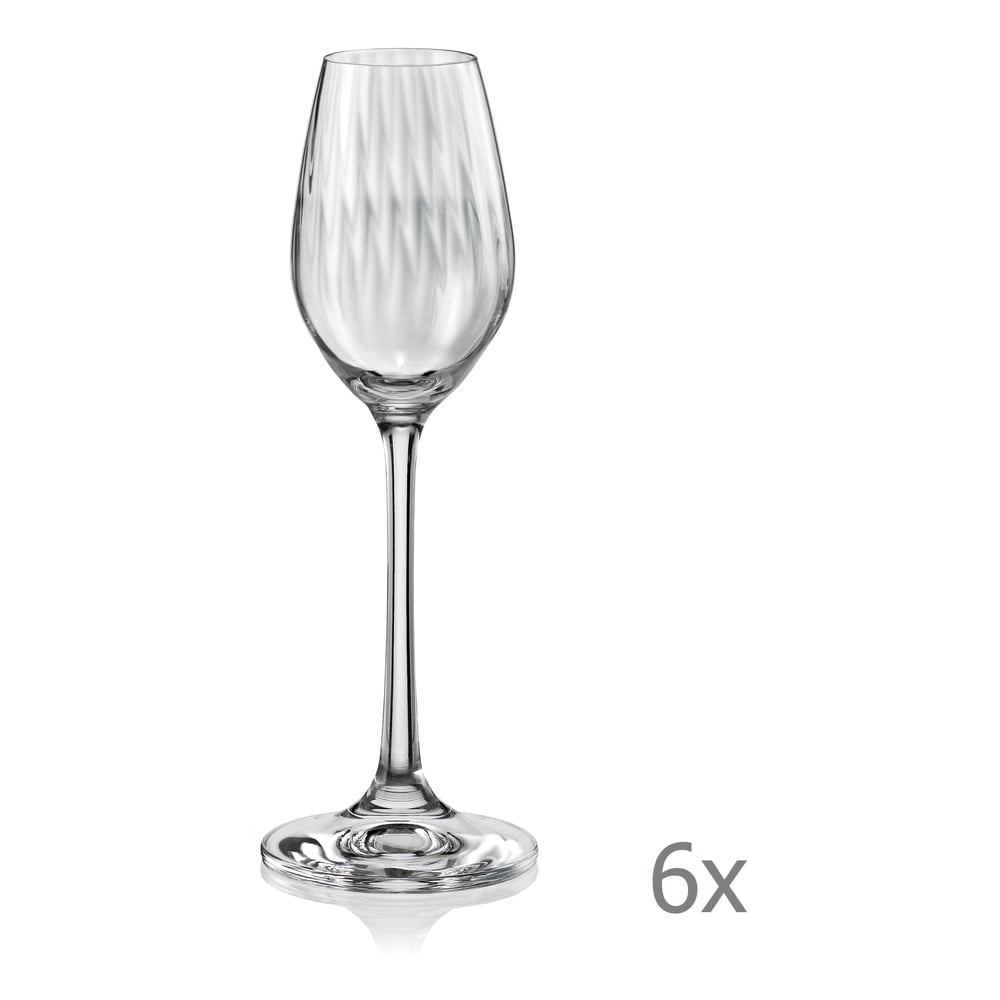 Sada 6 sklenic na likér Crystalex Waterfall, 60 ml