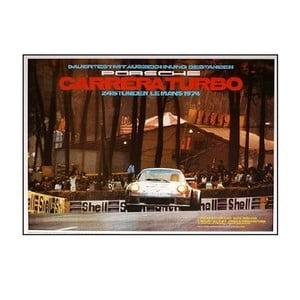 Plakát Porsche Le Mans 1974, 70x50 cm