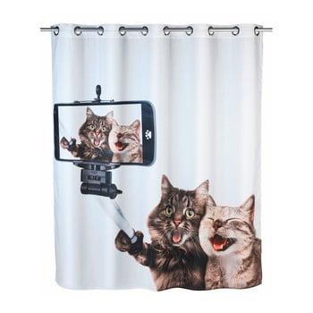 Perdea duș anti mucegai Wenko Selfie Cat, 180x200cm de la Wenko