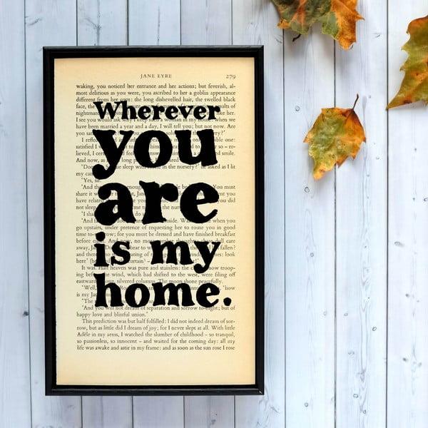 Plakát v dřevěném rámu Jane Eyre Wherever You Are