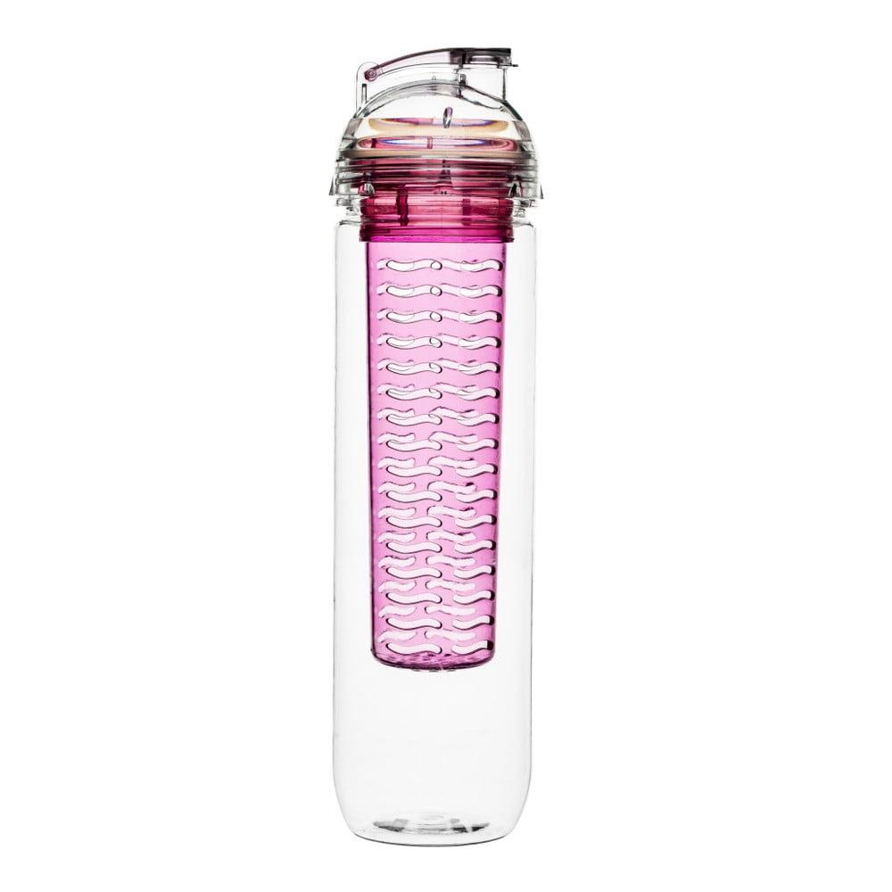 Růžová lahev s difuzérem Sagaform Fresh, 800ml