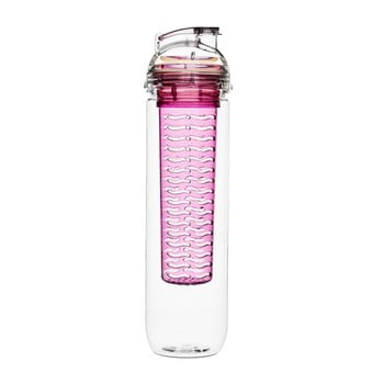 Sticlă cu infuzor Sagaform Fresh, 800 ml, roz imagine