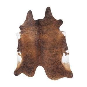 Hnědý koberec z hovězí kůže Kare Design Hide