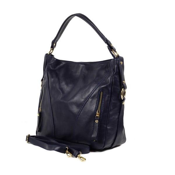 Kožená kabelka Linda, tmavě modrá