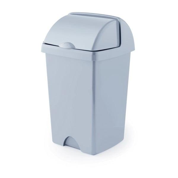 Sivý odpadkový kôš z recyklovaného plastu Addis Eco Range, 25 l