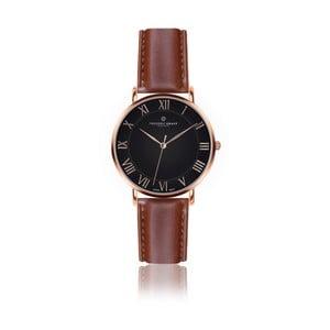 Pánské hodinky s koňakově hnědým páskem z pravé kůže Frederic Graff Rose Dom Cognac Leather