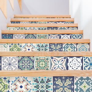 Set 2 autocolante pentru scări Ambiance Cabiria, 15 x 105 cm