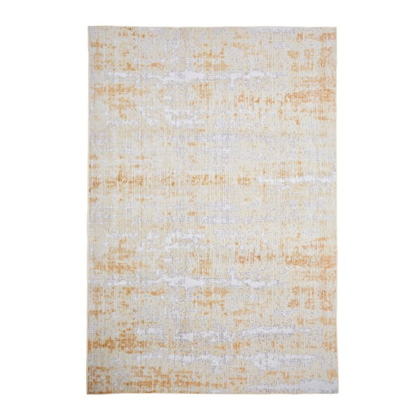 Covor Floorita Abstract Grey Ochre, 80 x 150 cm, gri - galben