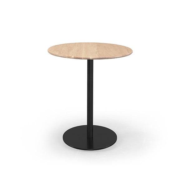 Kavárenský stolek s deskou z dubového dřeva Wewood - Portuguese Joinery Bistrô, Ø70cm
