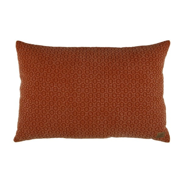 Hnědý bavlněný polštář De Eekhoorn Flatter, 40x60cm