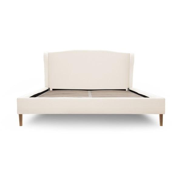 Krémová postel s přírodními nohami Vivonita Windsor,180x200cm