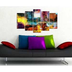 5dílný obraz Divoké umění
