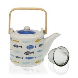 Porcelánová konvička se sítkem na čaj Versa Blue Bay