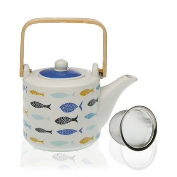 Ceainic din porțelan cu sită pentru ceai Versa Blue Bay imagine