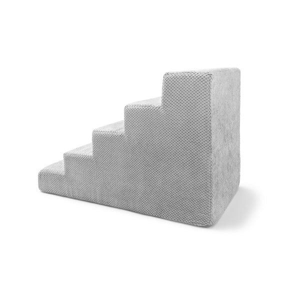 Světle šedé schody pro psy a kočky Marendog Stairs, 40 x 75 x 50 cm