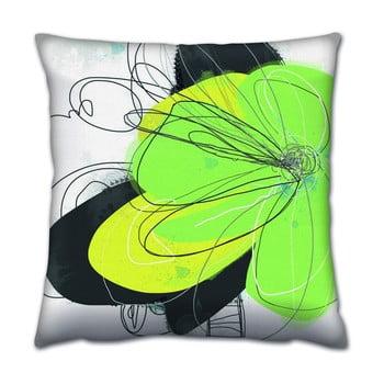 Pernă Gravel Neon Green, 43x43cm,cuumplutură