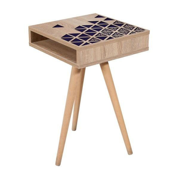 Odkládací stolek Zigon Blue, 40 x 40 cm