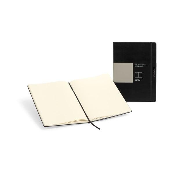 Černý zápisník Moleskine Folio Book, bez linek