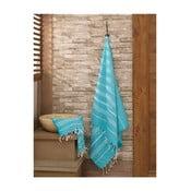 Set modrého ručníku a osušky Hammam Sultan