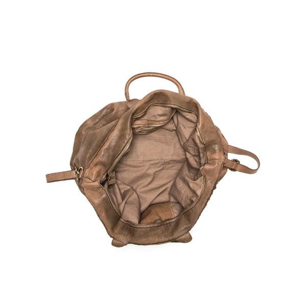 Kožená kabelka Anna Luchini 5 Fango