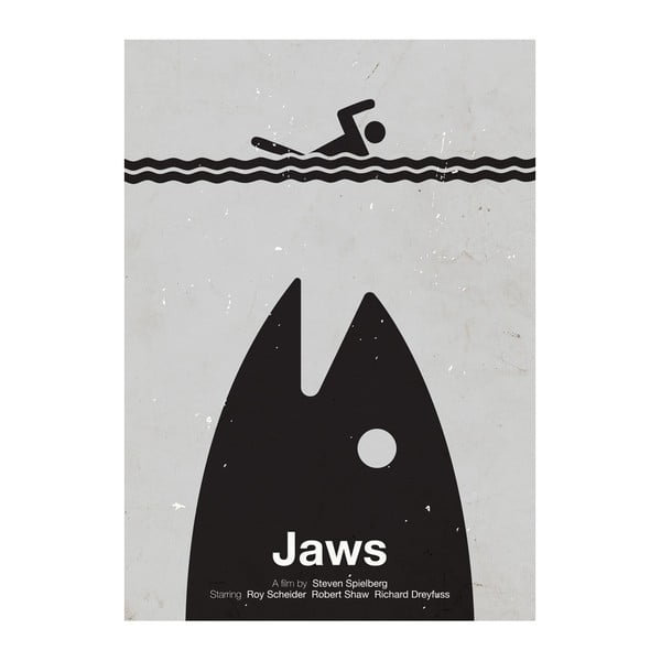 Plakát Jaws, 29,7x42 cm, limitovaná edice