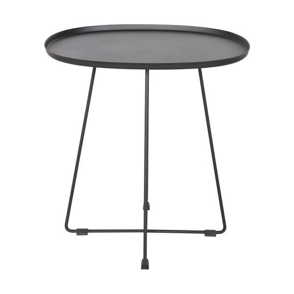 Černý odkládací stolek De Eekhoorn Otis Luna