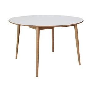 Bílý jídelní stůl s dubovými nohami RGE Trim