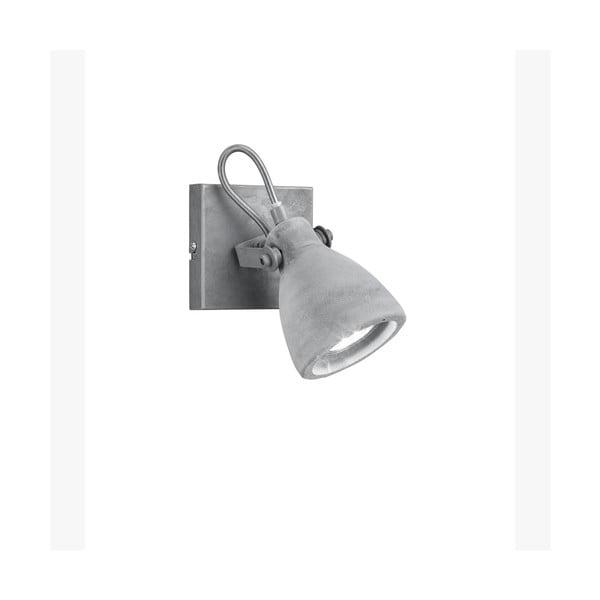 Sivé nástenné svietidlo Trio Concrete, dĺžka 10 cm