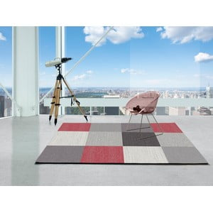 Šedý koberec Universal Menfis Cuadro, 160x230cm