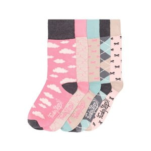 Sada 5 párů barevných ponožek Funky Steps Pinkies, vel. 35-39