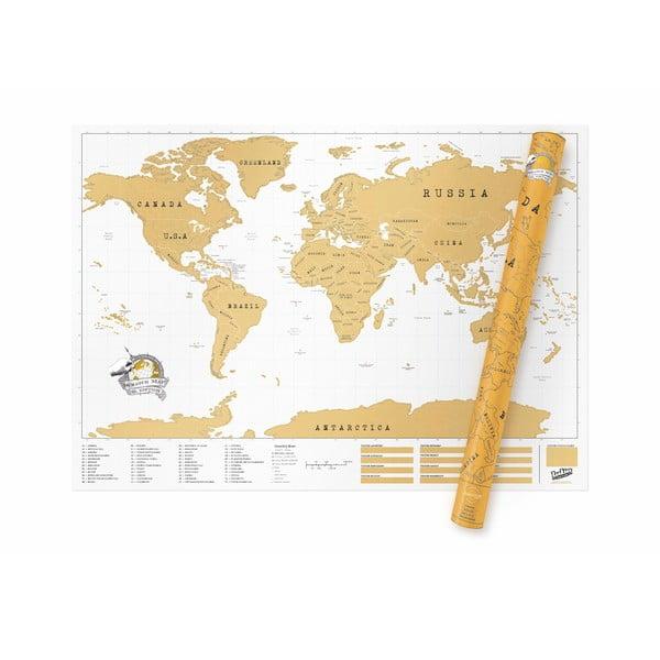 Mapa/zdrapka świata Luckies of London Original XL