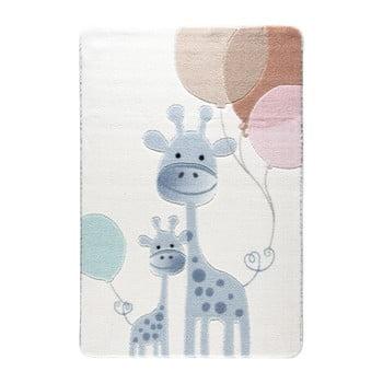 Covor pentru copii Confetti Happy Giraffe 133 x 190 cm albastru deschis