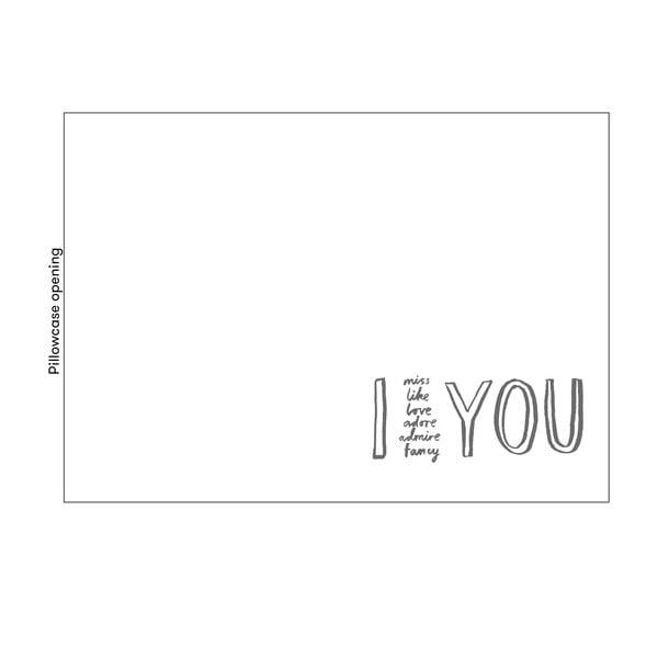 Povlak na polštář Karin Åkesson Design I Adore You, 50x70 cm