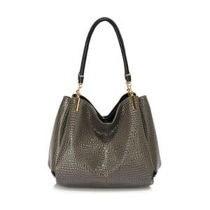 Šedá kabelka z eko kůže L&S Bags Snake Effect