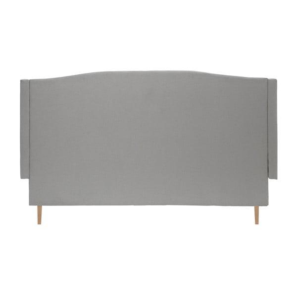 Světle šedá postel s přírodními nohami Vivonita Windsor,140x200cm