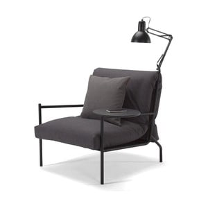 Tmavě šedé křeslo Innovation Noir Chair