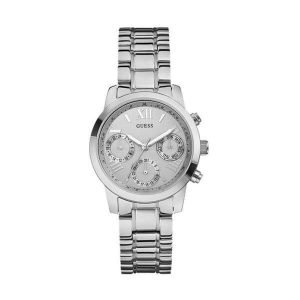 Dámské hodinky ve stříbrné barvě s páskem z nerezové oceli Guess W0448L1