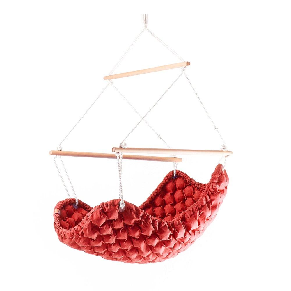 Interiérové houpací křeslo Swingy In Mystic, červené