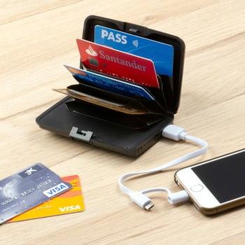 Portofel carduri anti-furt și power bank InnovaGoods