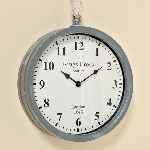 Nástěnné hodiny Devon Grey, 26 cm
