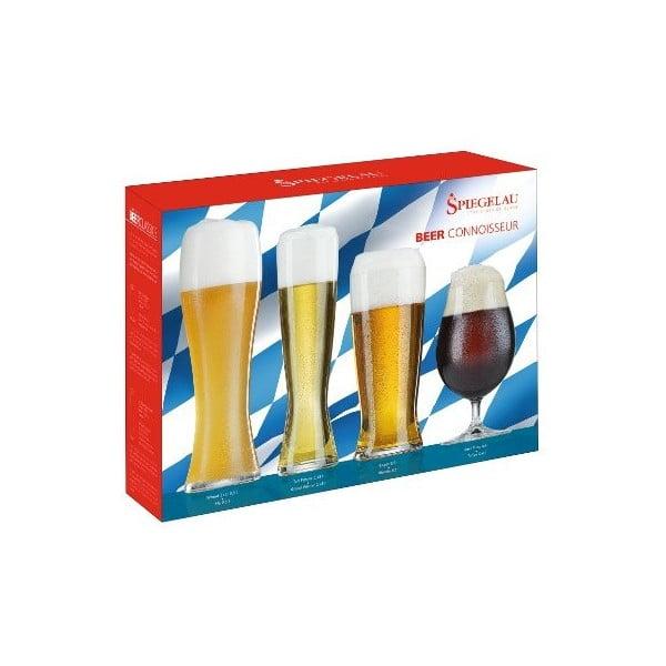 Sada 4 sklenic na pivo Connoisseur