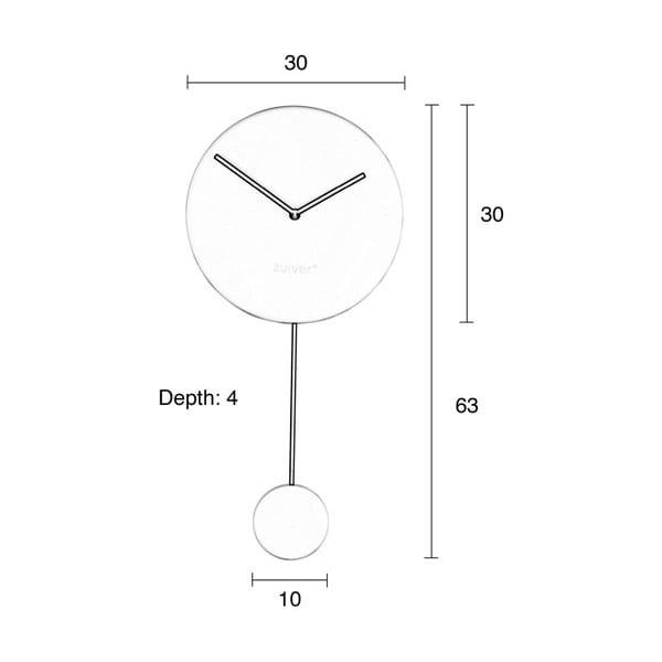 Černé nástěnné hodiny Zuiver