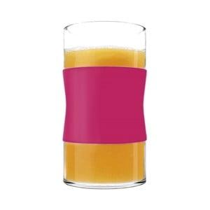 Sklenice z borosilikátového skla, fuchsiové, 240 ml, 2 ks