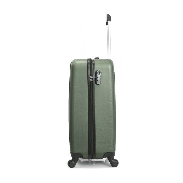 Tmavě zelený cestovní kufr na kolečkách Hero Ioulia, 60 l