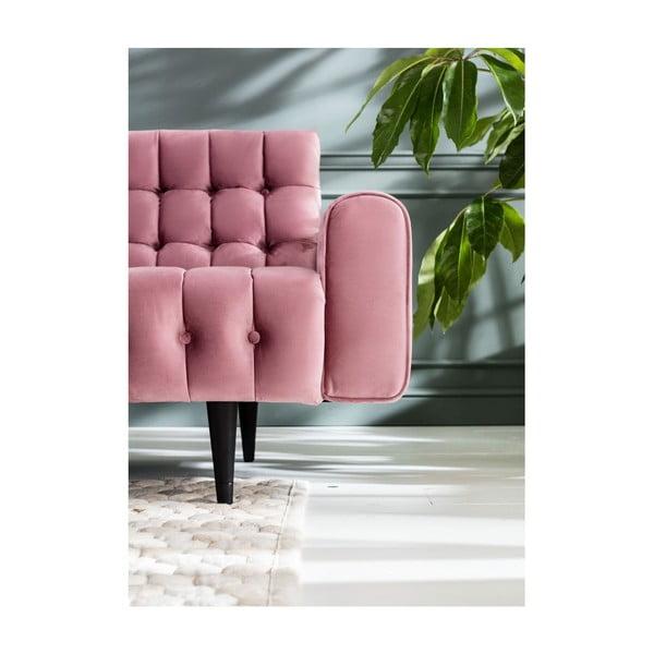 Růžová trojmístná pohovka Kare Design Milchbar