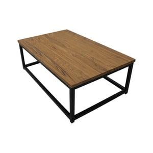 Konferenční stolek z teakového dřeva a kovu HSM collection, 120 x 75 cm
